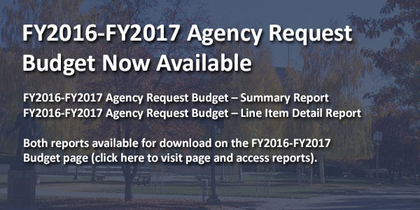 FY2016-FY2017 Agency Request