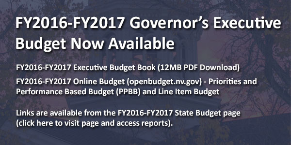 FY2016-FY2017 Governor's Recommended Budget