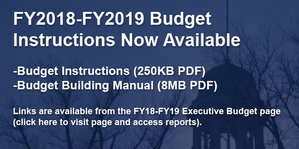FY18-FY19 Budget Instructions